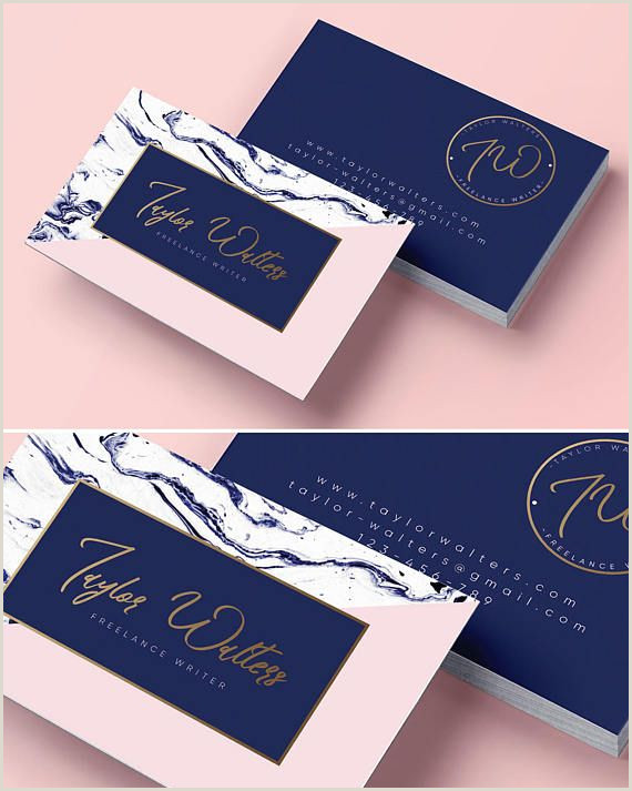 Best Business Cards Or Writers Logo Design Business Card Branding Package Marble Business
