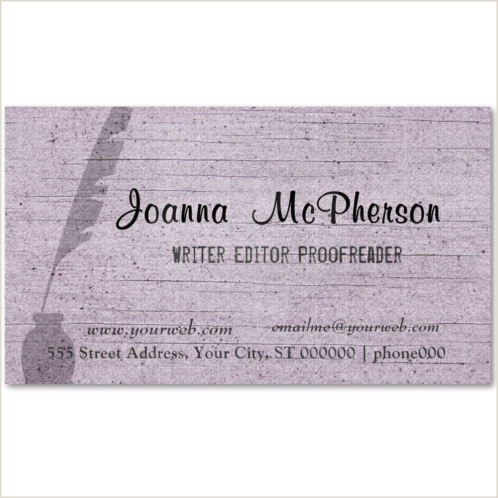 Best Business Cards Or Writers Modern Writer S Antique Pen Trendy Modern Business Card