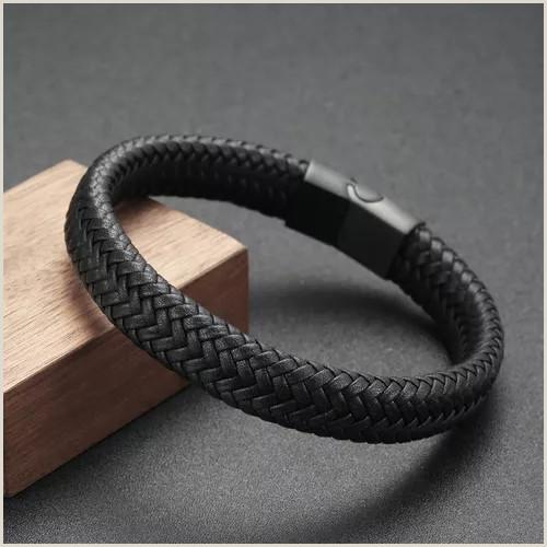 Best Business Cards Paper Leather Fashion Classic Genuine Leather Bracelet Men High Quality Simple Vintage Men Bracelets&bangles Jewelry Gift Vova