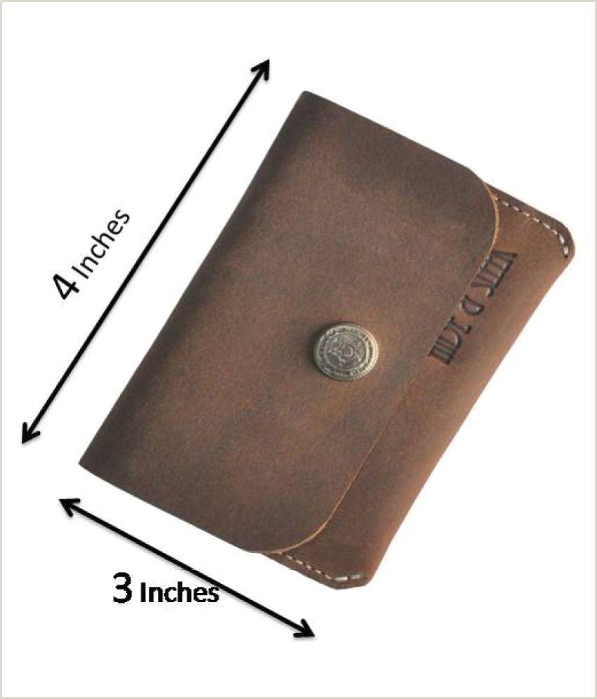 Best Business Cards Paper Leather Handmade Leather Men S Business Credit Card Holder Wallet