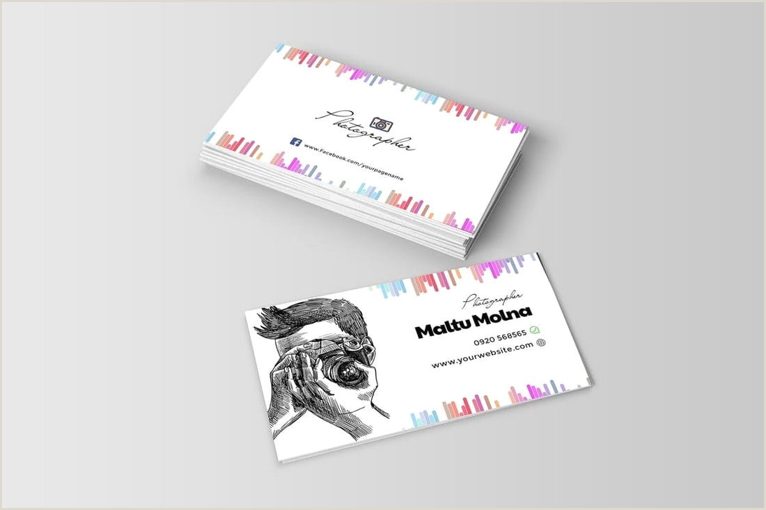 Best Business Cards Photographer Graphy Business Cards 20 Templates & Ideas