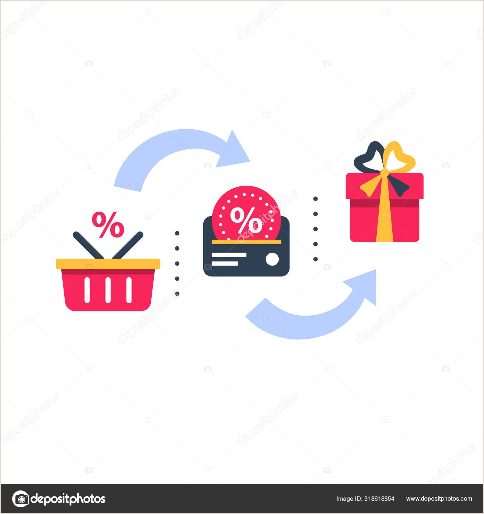 Best Business Cards Points Bonus Loyalty Card Incentive Program Vector Icon Set Earn Bonus Points For Purchase Discount Coupon Cash Back