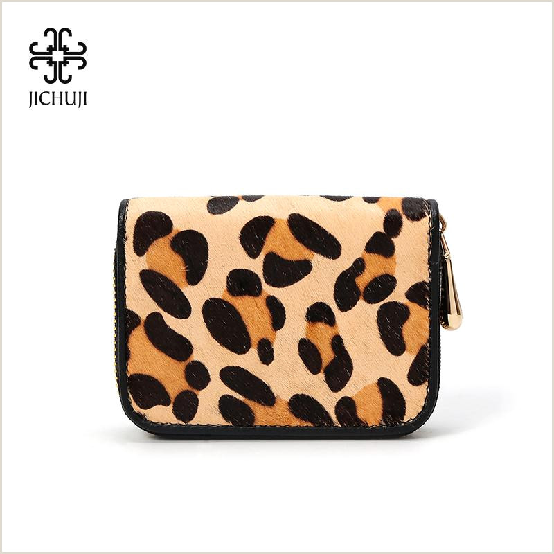 Best Business Cards Printing Service Jichuji Women Bags Card Wallet Leopard Print Holder For Young Women Genuine Leather Zipper Id Wallet Front Pocket Wallets Flat Wallet From Shoesbuddy