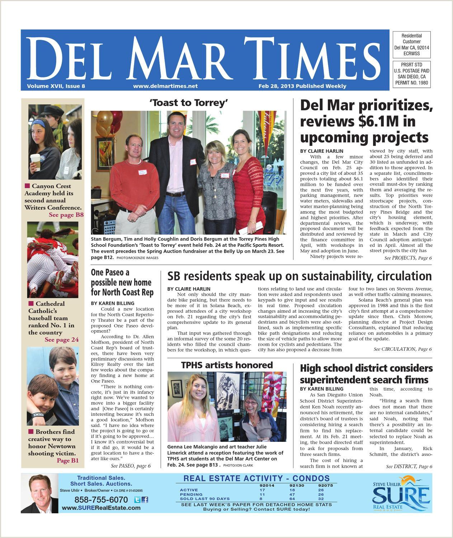 Best Business Cards San Diego Miramar Road Del Mar Times 2 28 13 By Utcp Issuu