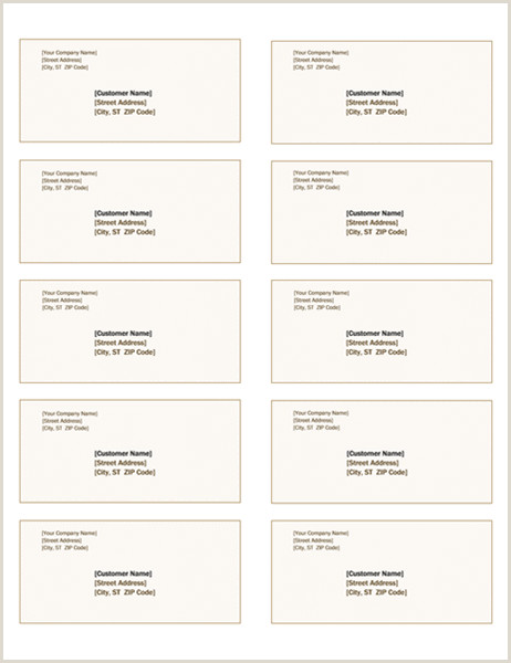 Best Business Cards Social Work Shipping Labels Sienna Design 10 Per Page Works With