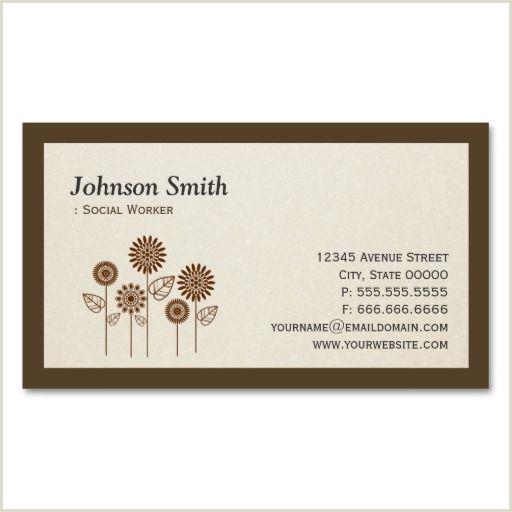 Best Business Cards Social Work Social Worker Elegant Tree Symbol Business Card