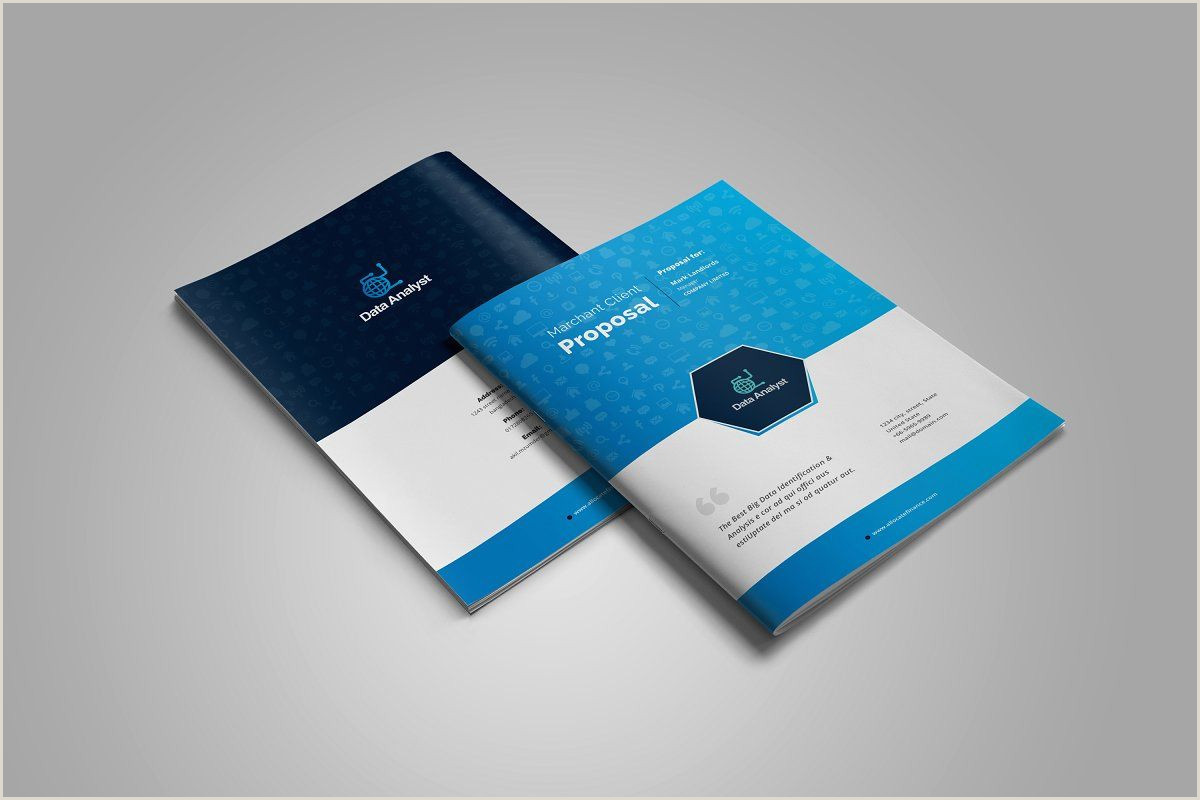 Best Business Cards Teal Blue Business Project Proposal Design