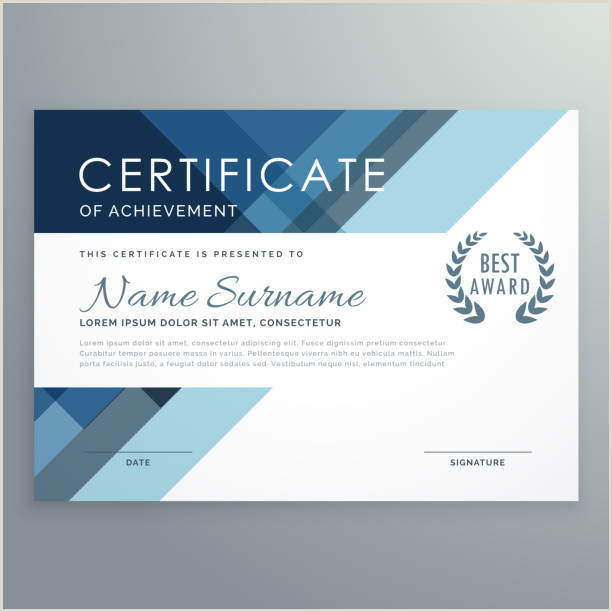 Best Business Cards Teal Blue Certificate Template Vector Art & Graphics