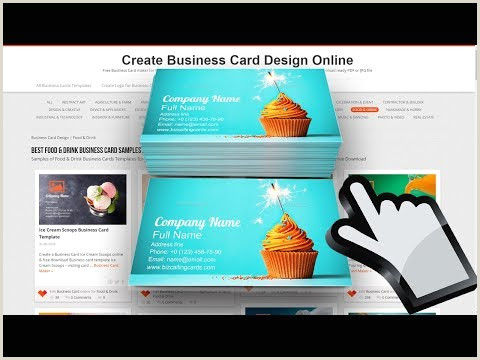 Best Business Cards Teal Blue Food & Drink Business Card Examples