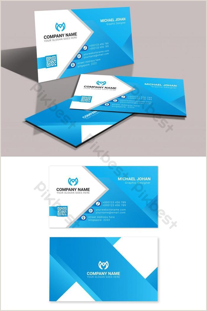 Best Business Cards Teal Blue Light Blue Visiting Card Design