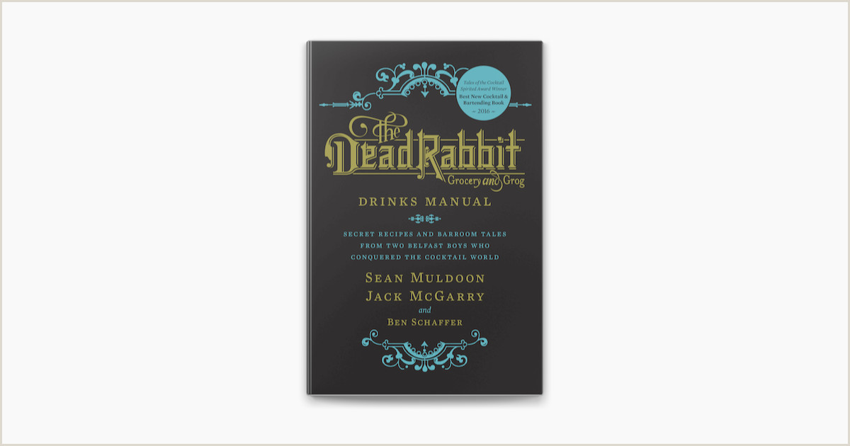 Best Business Cards Teal the Dead Rabbit Drinks Manual