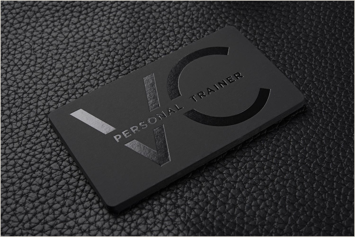 Best Business Cards Vc Free Impressive Hard Suede Personal Trainer Business Card