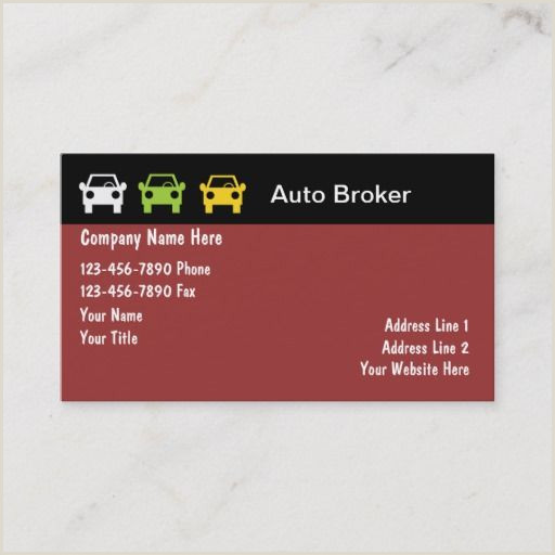 Best Business Cards With Travel Insurance Auto Broker Business Cards Zazzle