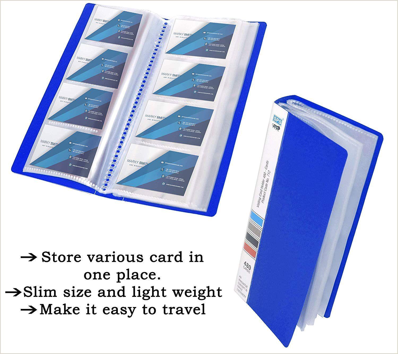 Best Business Cards With Travel Insurance Sps Visiting Card Holder 480 Folder Blue