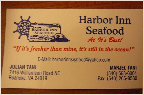 Best Font For Business Card Harbor Inn Business Card Picture Of Harbor Inn Roanoke