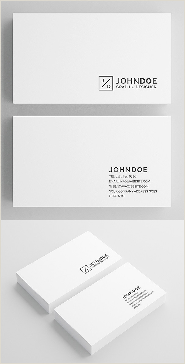 Best Minimal Business Cards 30 Minimalistic Business Card Designs Psd Templates