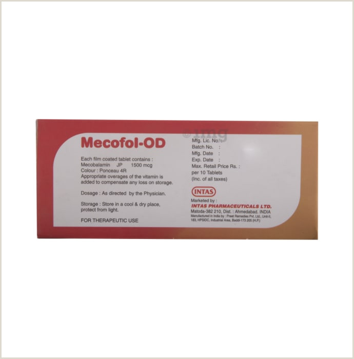 Best Price On Business Cards Mecofol Od Tablet