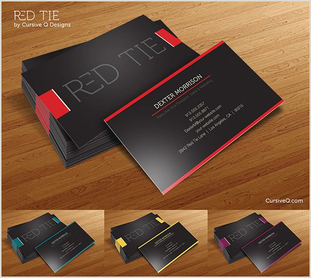 Best Website To Create Business Cards Free Business Card Template – Red Tie By Cursive Q Designs