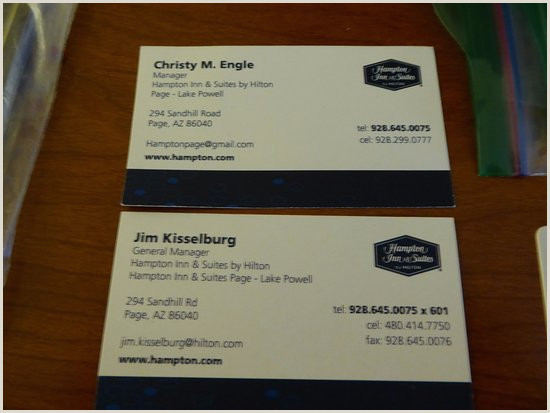 Best Website To Make Business Cards Business Cards For Management Picture Of Hampton Inn