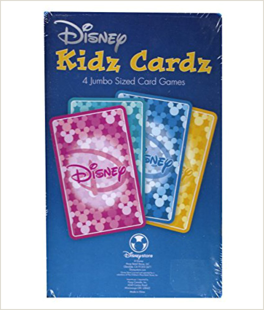Bisnes Cards Disney Kidz Cardz 4 Jumbo Sized Card Games Buy Disney