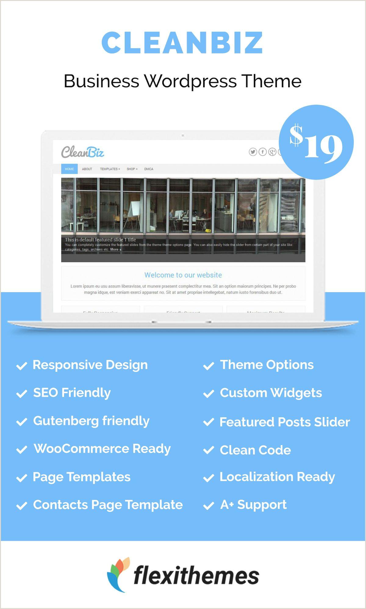 Biz Cards Online WordPress Template Service Business