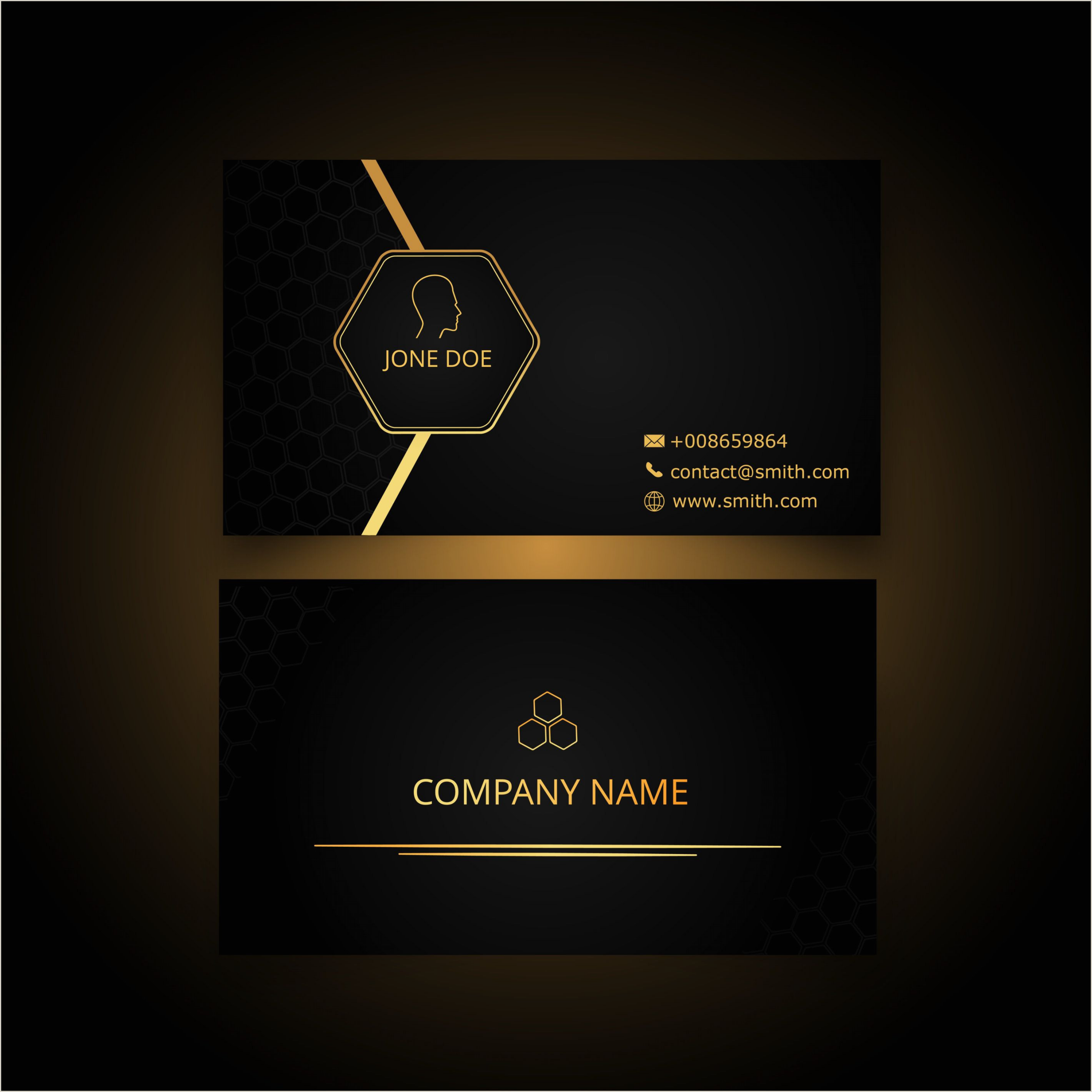 Black And Gold Business Card Template Business Card Gloden And Black
