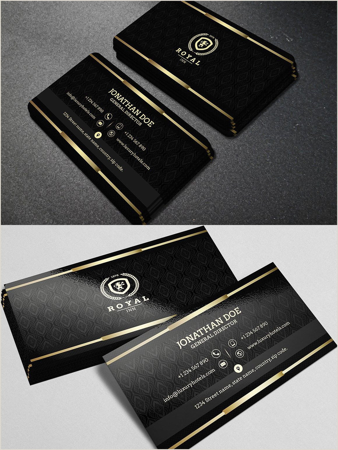 Black And Gold Business Card Template Gold And Black Business Card 40