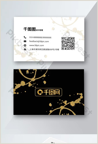 Black And Gold Business Card Template Gold Business Card Templates