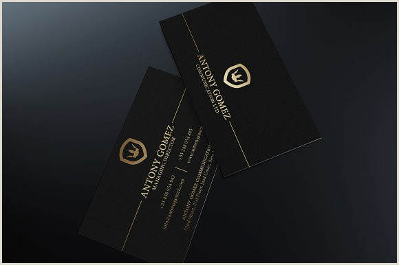 Black And Gold Business Card Template Simple Gold And Black Business Card