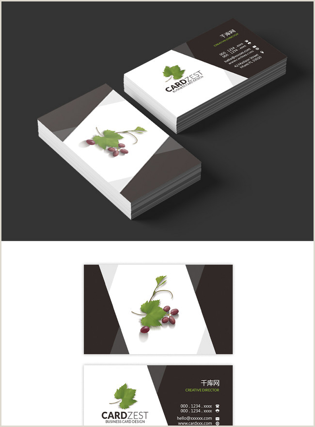 Black And Silver Business Cards Black And White Business Card Design Template Image Picture