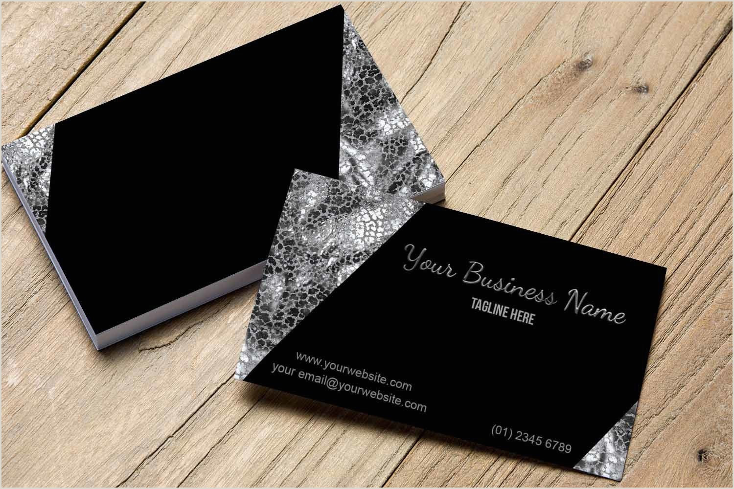 Black And Silver Business Cards Stylish Black And Silver Business Card Template