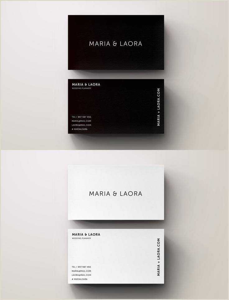 Black And White Business Card Design Black & White Modern Business Card