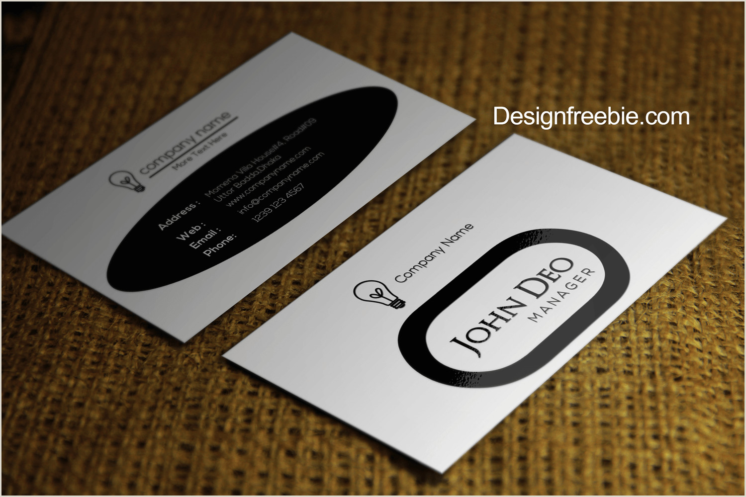 Black And White Business Card Design Free Business Card Templates Download 1 Black And White