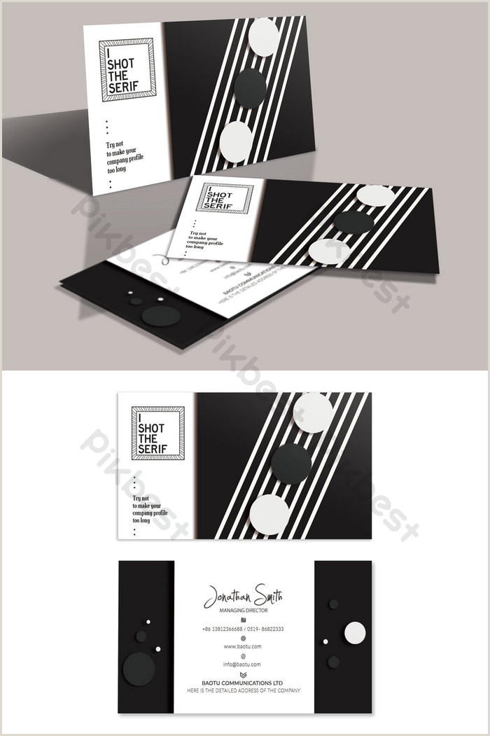 Black And White Business Card Fashion Creative Black And White Dot Business Card