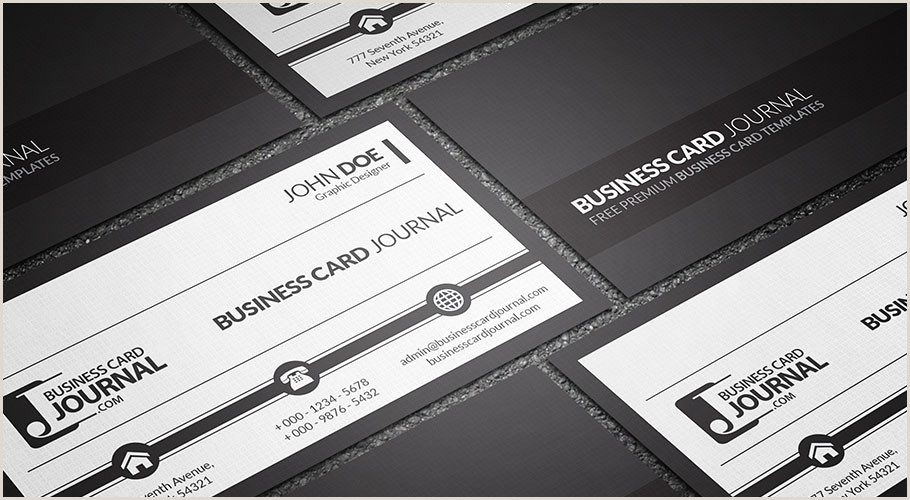 Black And White Business Card Free Black And White Corporate Business Card Template