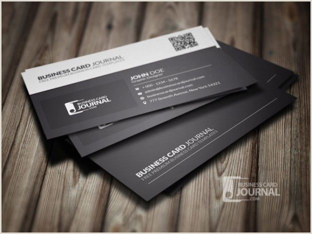 Black And White Business Card Free Psd