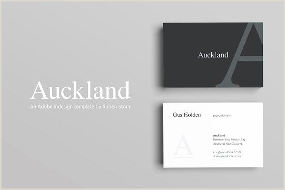 Black And White Business Card Template Auckland Business Card