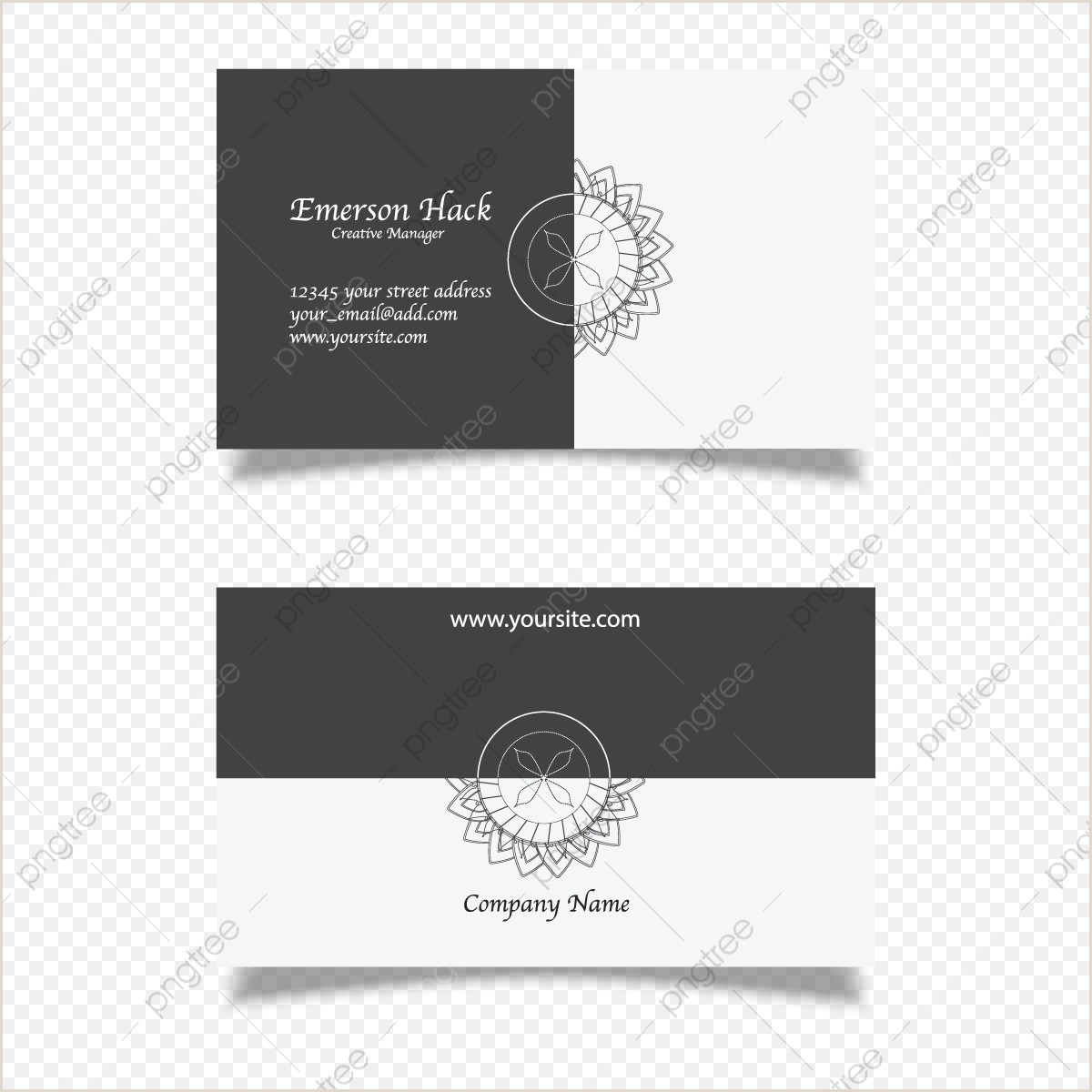 Black And White Business Card Template Black And White Business Card Png