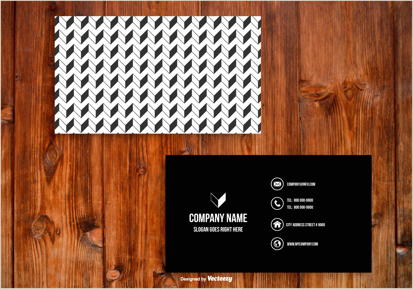 Black And White Business Card Template Black And White Business Card Template Download Free