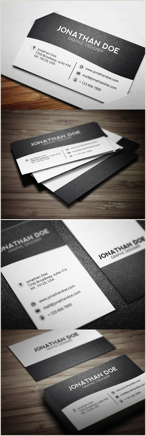 Black And White Business Card Template Black And White Business Cards Design 50 Inspiring Examples