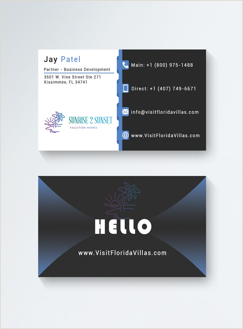 Black And White Business Card Template Black And White Modern Business Card Template Image Picture