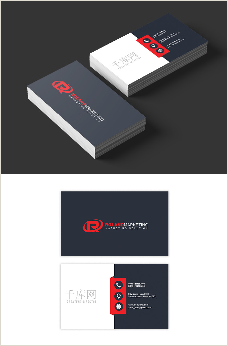 Black And White Business Cards Black And White Business Card Design Template Image Picture