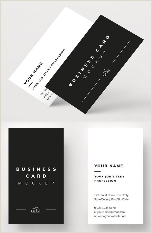 Black And White Business Cards Realistic Business Card Mockup Templates 20