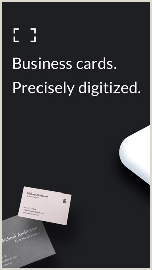 Black And White Business Cards Stacked Business Card Scanner On The App Store