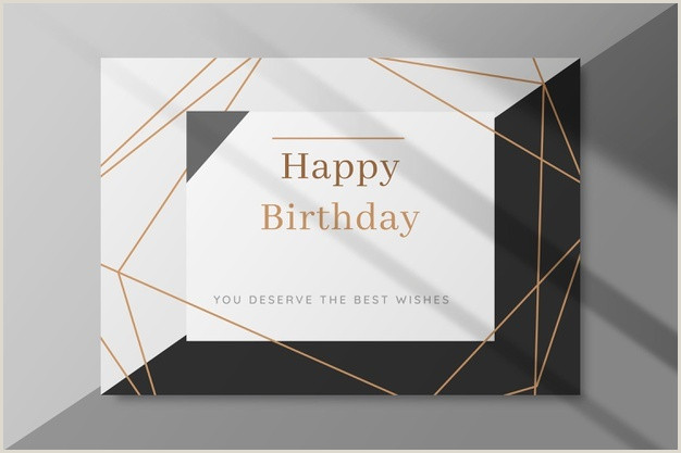 Black Business Card With Gold Lettering Birthday Card