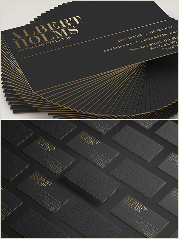 Black Business Card With Gold Lettering Black And Gold Business Card Templates Design