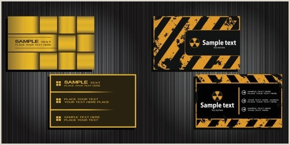 Black Business Card With Gold Lettering Gold And Black Business Card Vector Free Vector