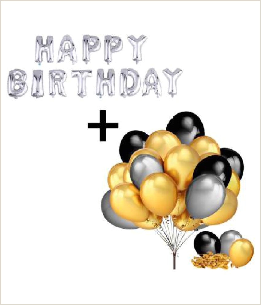 Black Business Card With Gold Lettering Happy Birthday Letter Foil Balloon Set Of Silver Pack Of 50 Metallic Balloons Black Gold And Silver