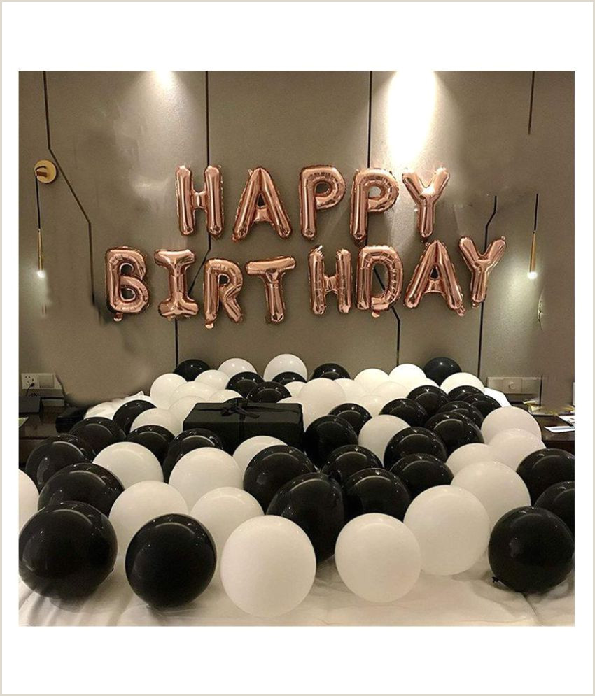 Black Business Card With Gold Lettering I Q Creations Happy Birthday Letter Foil Balloon Set Of Rose Gold Hd Metallic Balloons Black And White Pack Of 30pcs For Birthday Party Decoration