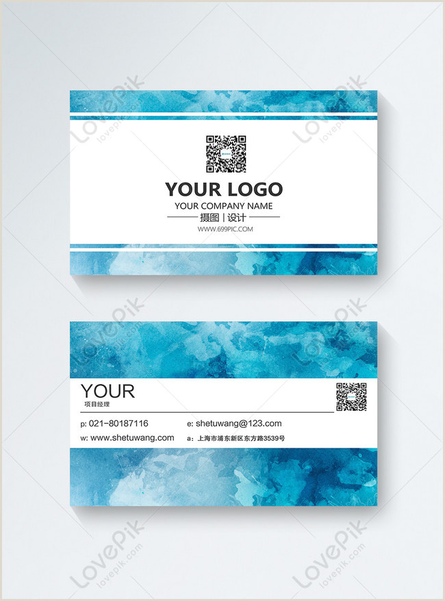 Blue Business Card Background Blue Business Card Design Template Image Picture Free